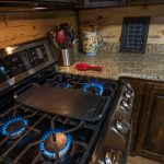 cabin kitchen and stove