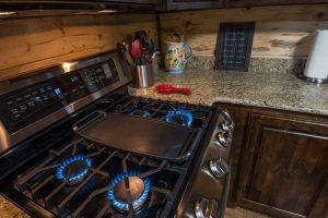 cabin kitchen and stove